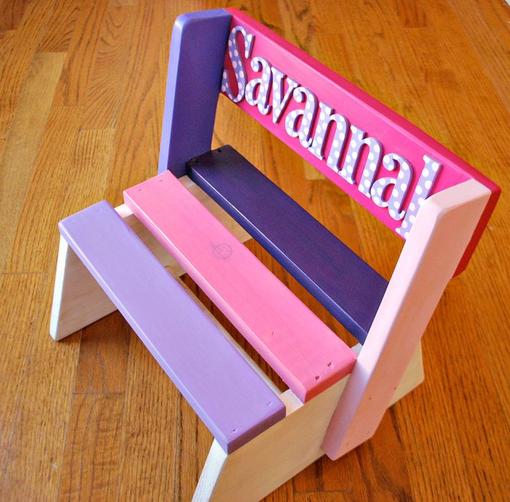 personalized+step+stool+for+kids+wooden+stool+for+ & 36 best Wooden stools images on Pinterest | Wooden stools Step ... islam-shia.org