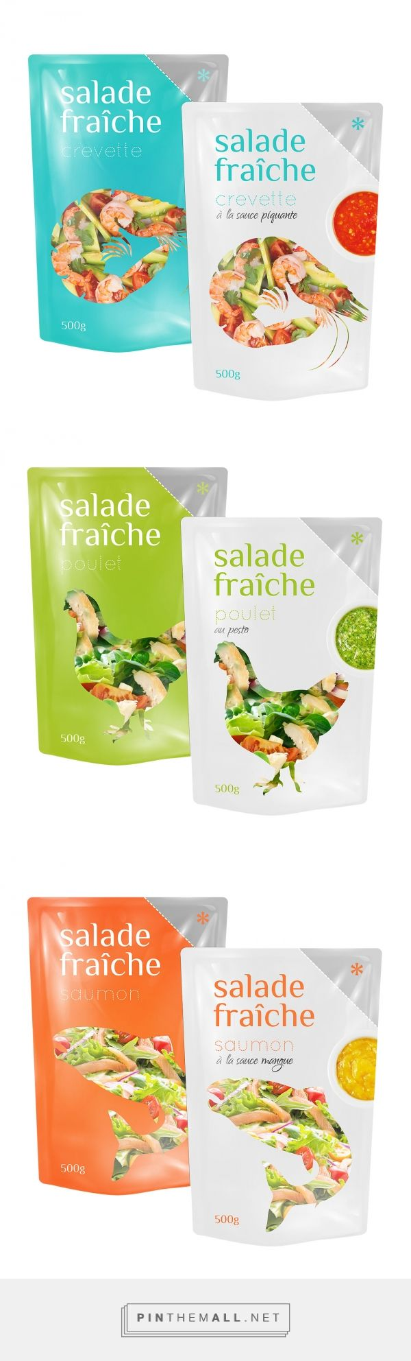 Salade Fraîche Plastic Packaging by MAISON D'IDÉE curated by Packaging Diva PD. Love this tasty looking salad packaging. Who's ready for lunch?