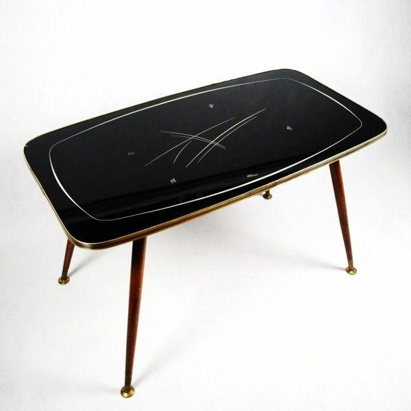 Stół/ stolik lata 60-te. Szkło
