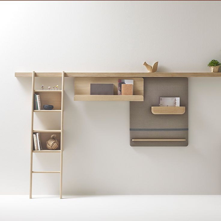 The 'Zutik' by French brand Alki is a modular storage system organised around a slimline oak beam. Add magnetic wall panels, padded pinboards, suspended shelving and even a ladder to the simple starting point. Beam from £264; accessories from £78 for a slate wall panel