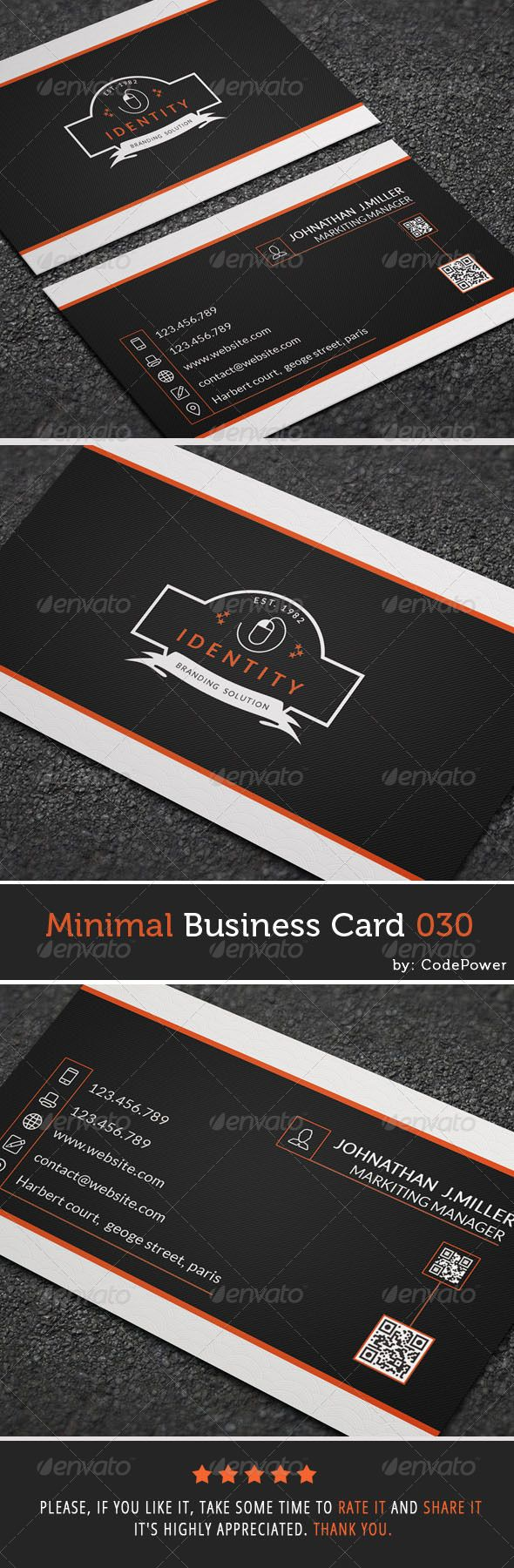 Minimal Business Card 030 - Corporate #Business #Cards Download here: https://graphicriver.net/item/minimal-business-card-030/7929736?ref=alena994
