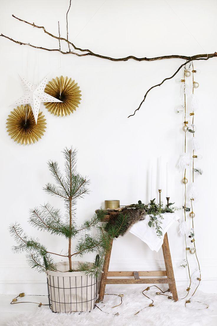 DIY String Lights Garland @themerrythought