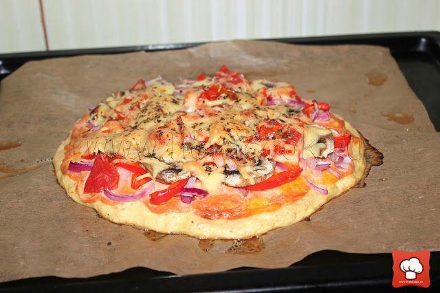 Пицца на корже из курицы