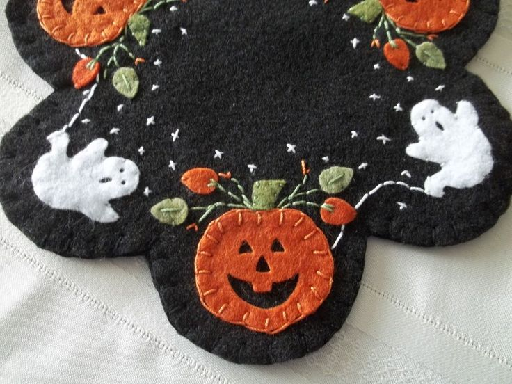 primitive country pumpkins ghosts and stars candle matmug rug wfs - Halloween Rugs