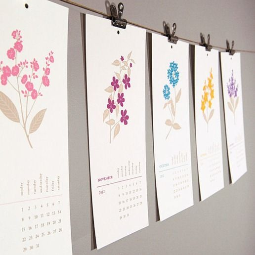 cute display idea for monthly calendar