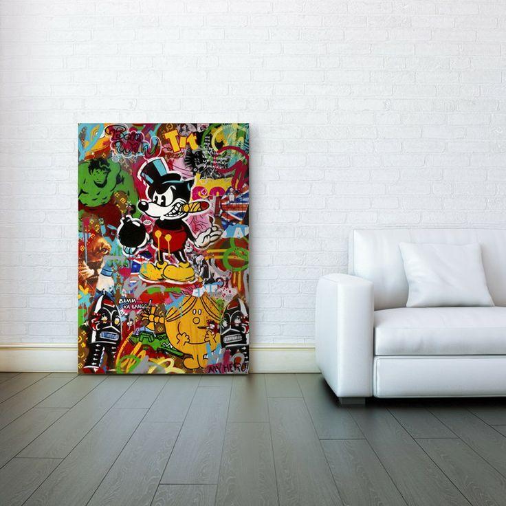 Déco street avec notre tableau donnez du cachet à votre décoration avec cette toile collage daffiches style urbain made in france