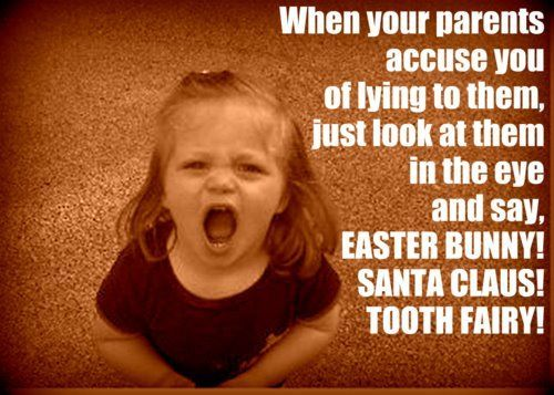 HA!: Santa Clause, Quote, Easter Bunnies, Funny Stuff, So True, So Funny, Tooth Fairies, True Stories, Kid