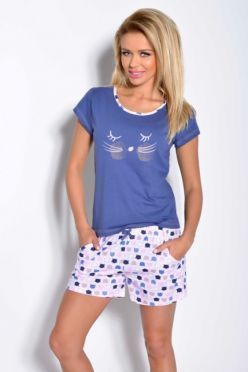 Modré pyžamo WANESSA 1118
