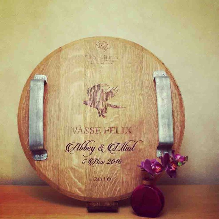 New Range from Lark and Owl  Lark & Owl now offer customers laser engraving on their Lark & Owl timber products! The perfect gift for Christmas, anniversaries, weddings, birthdays, or just to spoil yourself. Pictured is a custom made cheese board for a couple's wedding. Lark & Owl can customise our wine barrel homewares & furniture as well as our unique and one-off natural edge Australian timber serving boards. Available in a range of Western Australian timbers including jarrah, marri…