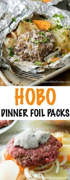 Hobo Dinner Foil Packets (Hamburger & Potato) - Spend With Pennies
