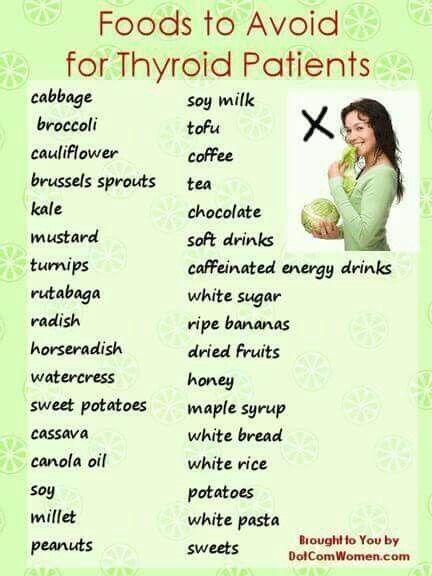 Foods to avoid if you have thyroid problems | Thyroid ...