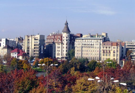 Picturesque image of Bucharest the Capital of Romania during Fall