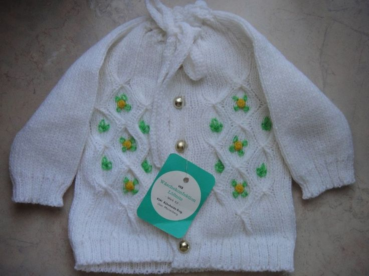 Baby Garnitur des VEB Wäschekonfektion Lößnitz Werk 9 Neuware mit orig.Etikett
