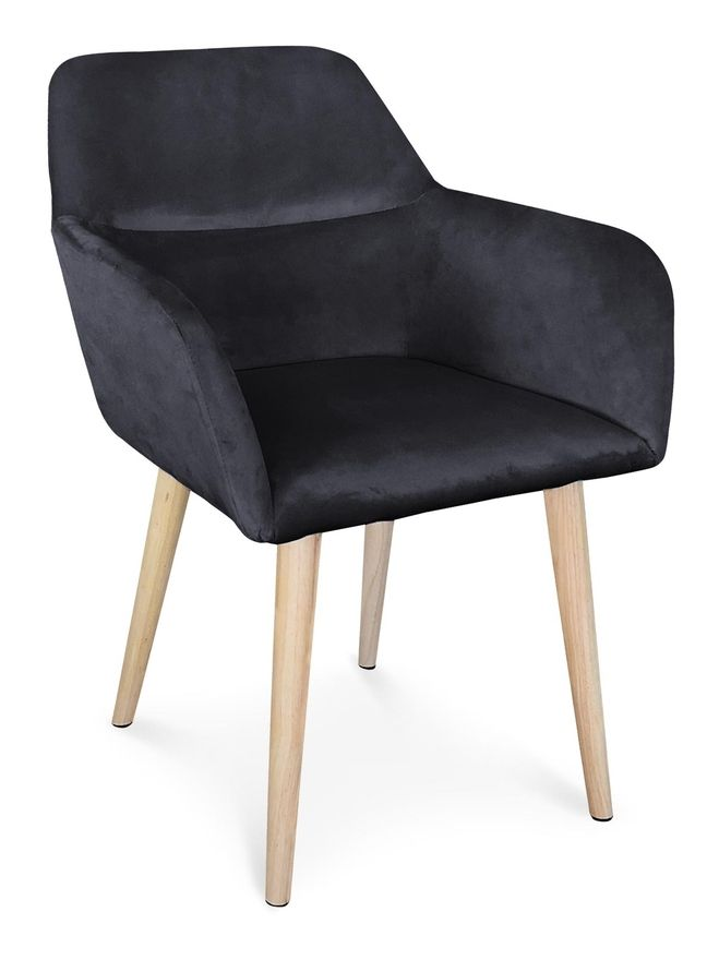 Chaise Fauteuil Scandinave Fraydo Velours Noir Lsr19118blackvelvet Furniture Chair Home Decor