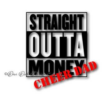 Straight Outta Money Cheer Dad SVG Files for by OneOakDesigns