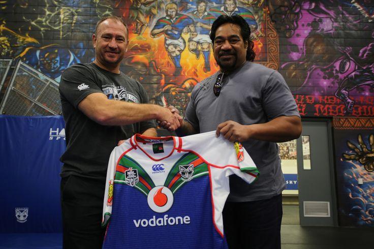 Original Warriors Dean Bell and Hitro Okesene #WarriorsForever #AucklandWarriors #1995 #NZWarriors #Warriors #RugbyLeague #NRL #OldSchool #Heritage