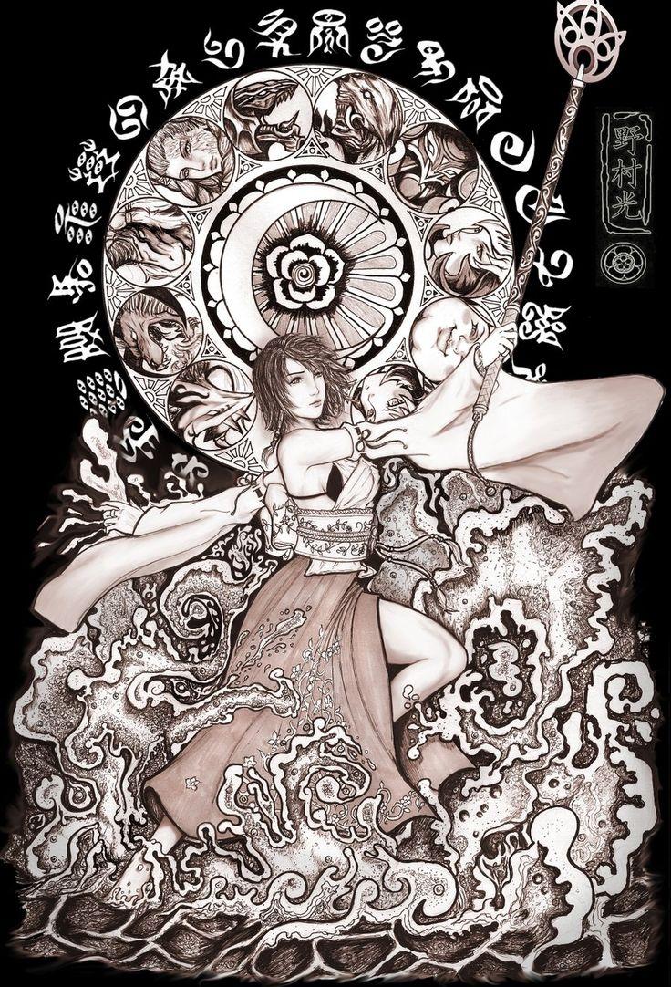Week 10 - Final Fantasy X - Fan Art Wed - summoner yuna   Tumblr