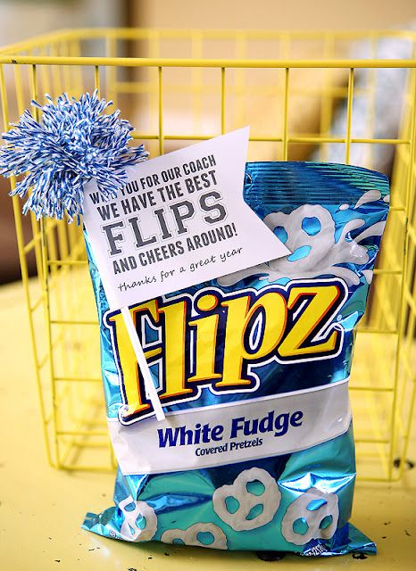 This would be cute to give Abby's cheer coach at the end of Upward season.