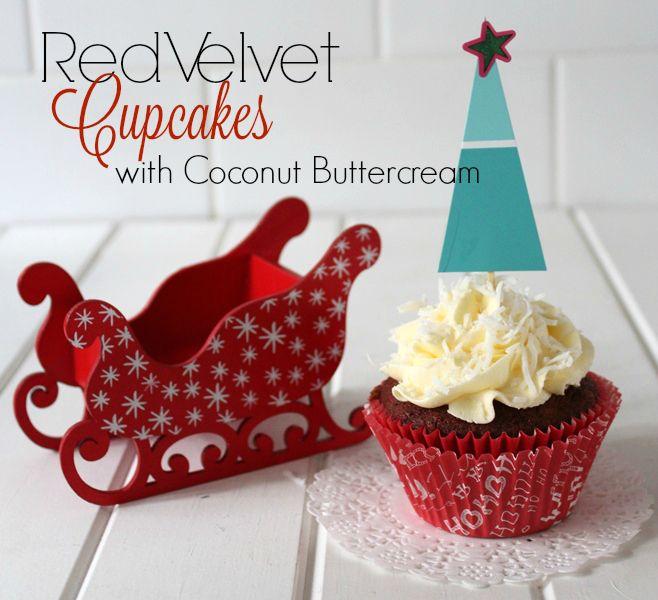 Threadbare Creations- Red Velvet Cupcakes with Coconut Buttercream