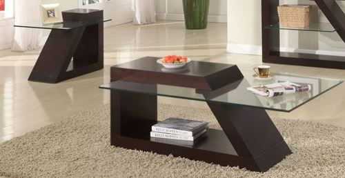2 PC Homelegance Jensen Contemporary Coffee Table & End Table Set 3422