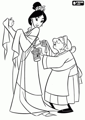70 best Disney Mulan Coloring Pages images on Pinterest