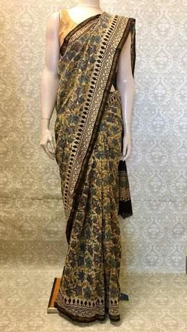 33f330e18bdea Cotton Kalamkari Saree - Sarang