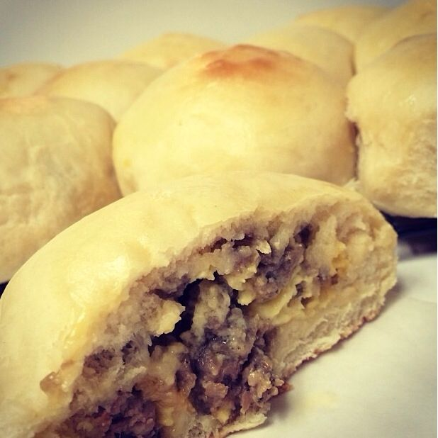 Sausage, egg, and cheese kolaches! ❤️ tastes just like kolache factory! (All…
