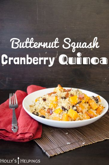 Butternut Squash Cranberry Quinoa | hollyshelpings.com