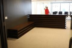 Santa Monica Mid-Century Modern Reception Desk and Bench