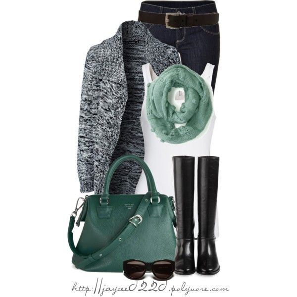 """""""Gray, Teal and White"""", created by jaycee0220 on Polyvore"""