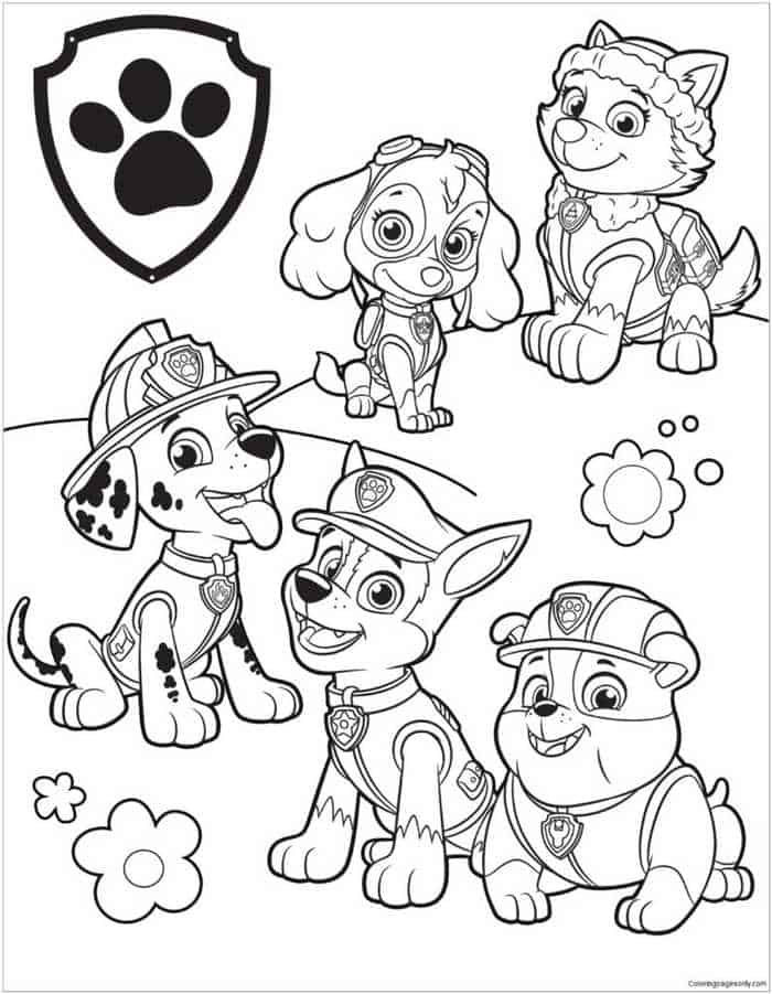 Paw Patrol Coloring Pages Pdf To Print Coloringfolder Com Paw Patrol Coloring Paw Patrol Coloring Pages Cartoon Coloring Pages
