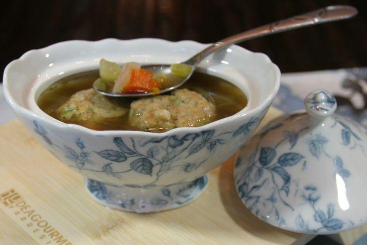 Matzo Chicken Meatball Soup