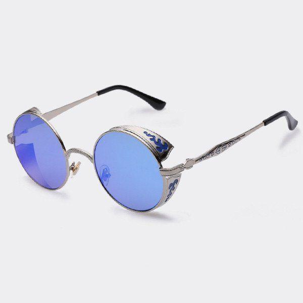 Juleya Mujer Hombre Vintage Retro STEAMPUNK Gafas de sol redondas Gafas de sol Gothic Classic UV400 42bv5zMiH9