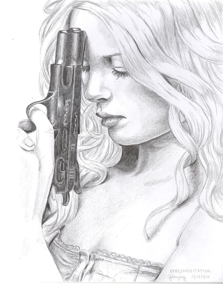 Girl with a Gun Art Print. $25.00, via Etsy.
