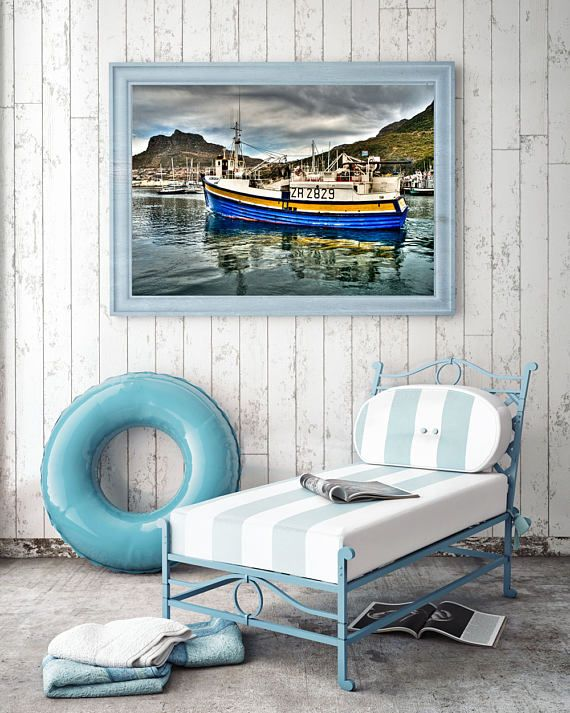 Printable Wall Art - Feeling Blue in Houtbay, South Africa