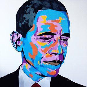 The AfroFusion Spot: Art: Artist Benny Bing, benny, benny bing, art, artist, painter, canvas, creative, nigerian, african, african art, toronto, headwrap, african queen, obamam barack obama