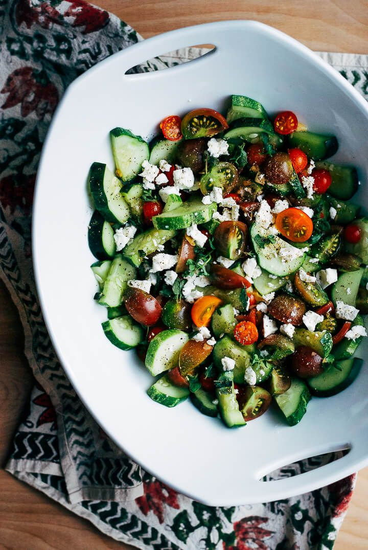 Cucumber-Tomato Salad with Garden Herbs