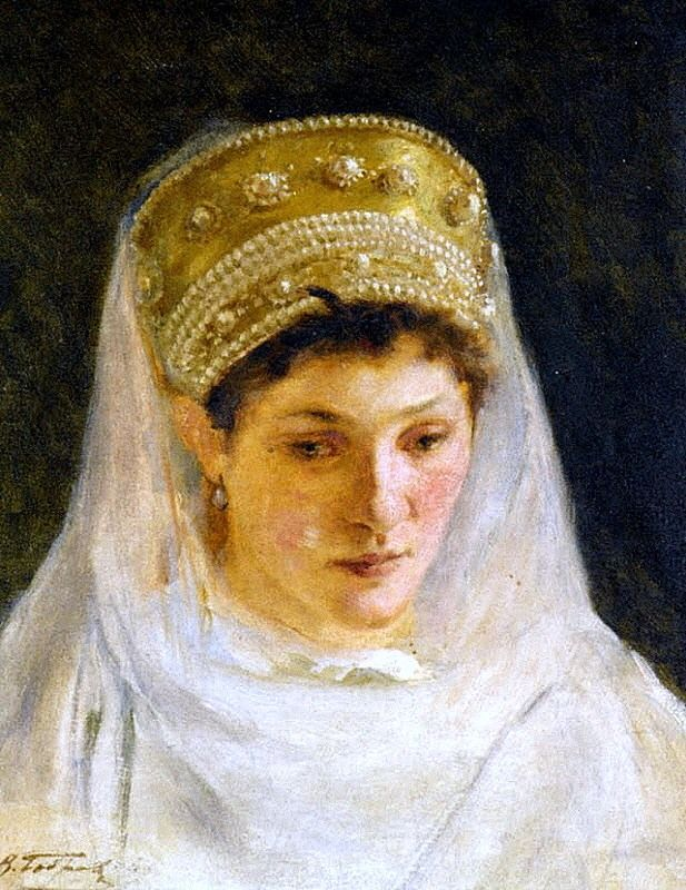 Russian costume in painting. Victor A. Bobrov. Bride's Melancholy. 1915. #art…