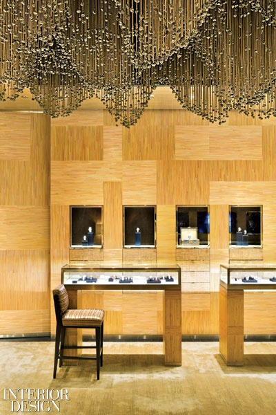 The Maison Louis Vuitton retail store in Shanghai drips with luxury.  Designed by Peter Marino. #interiordesign #luxury #retail