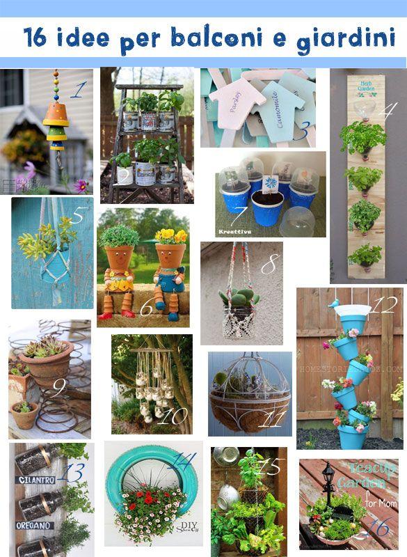 #Kreattiva: 16 Idee per #balconi e #giardini