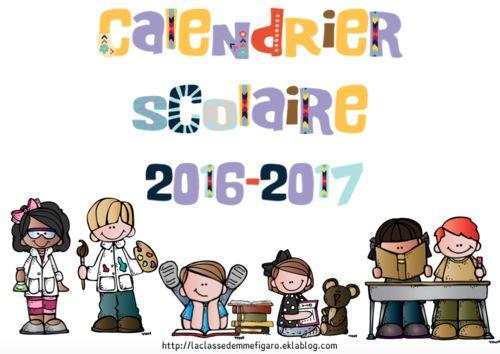 Calendrier scolaire 2016-2017