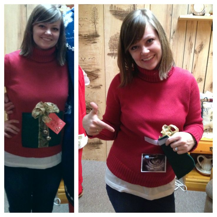 ugly christmas sweater pregnancy reveal maternity pinterest christmas christmas sweaters and ugly christmas sweater - Maternity Christmas Sweater