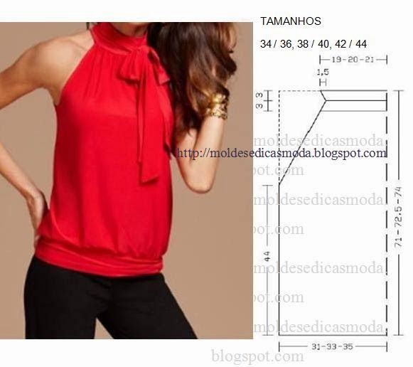 Fashion Templates for Measure: BLOUSE EASY TO DO IN THREE SIZES