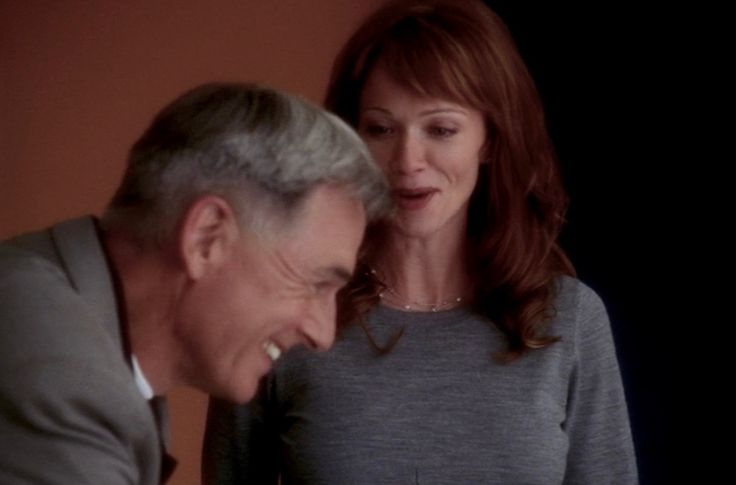 Screenshot from season three episode Honor Code. Mark Harmon as Gibbs and Lauren Holly as Jenny Shepard. NCIS airs on CBS on Tuesdays.