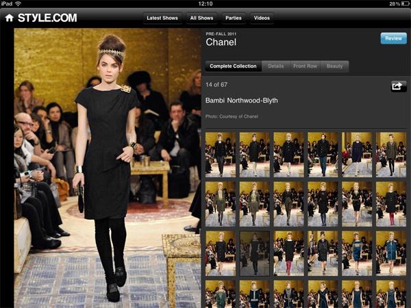 High #fashion & high #technologies #style.com #application
