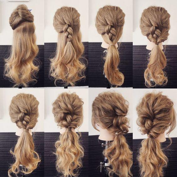 Variation der praktischen Haaranordnung, auch wenn…