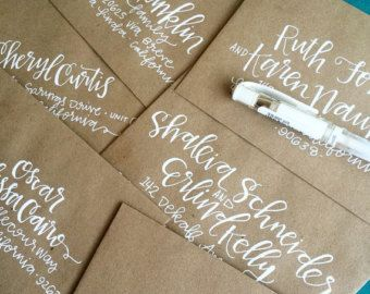 PEARTREE Hand Lettered Envelope Addresses - Envelope Addressing for Weddings, Announcements, Invitations, & Special Occasions - Calligraphy