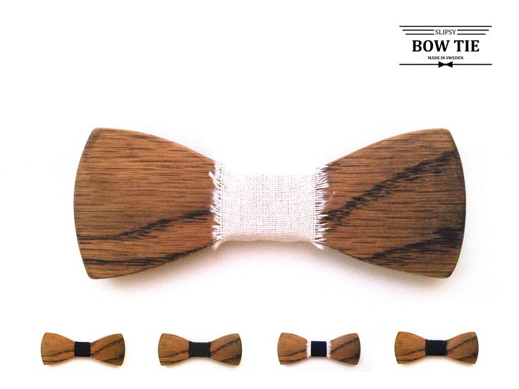 Träfluga Wooden Bow Tie made in Sweden by Slipsy www.slipsy.se