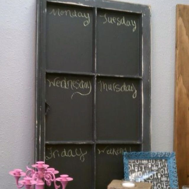 Craft Ideas Using Old Windows Chalk Board Using Old