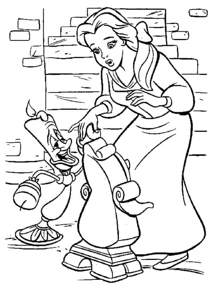 Printable Beauty And The Beast Coloring Pages In 2020 Disney
